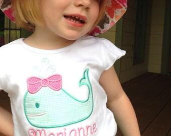 Custom Applique' Preppy Whale Shirt