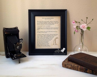 "The Velveteen Rabbit ""Real"" Quote - 11 x 14  Custom Art Print - Frame not included"