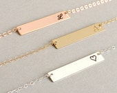 Personalized Bar Necklace, Bar Necklace, Personalized Bar Necklace, Rose Gold Bar Necklace, Personalized Bar Necklace, Valentines Day
