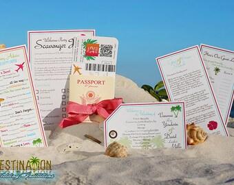Vanessa's Destination Wedding Invitations - DIY - Metallic Cover Generic Wedding Passport & Boarding Pass Sample