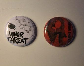 "Minor Threat 1"" Pins"