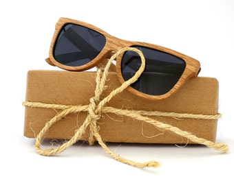 Oak Wood Sunglasses Wayfarer Wooden Polarized Eyewear for Man Woman WOODEER