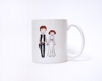 Star Wars Han Solo and Princess Leia Ceramic Coffee mug