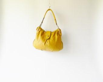Mustard Leather Purse