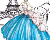 Christian Dior Couture Design Fashion Illustration  Wall Art Print original only 25 prints will be sold