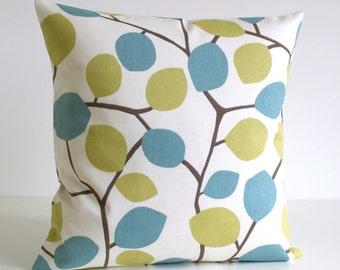 Pillow Cover, Cushion Cover, cotton pillow, Pillow Case, Toss Pillow Cover, Decorative Pillow Cover - Nordic Leaves Pistachio