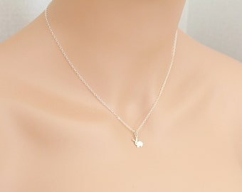 Bunny Necklace Sterling Silver Gift Rabbit Hare Cutout Bunny Rabbit Easter