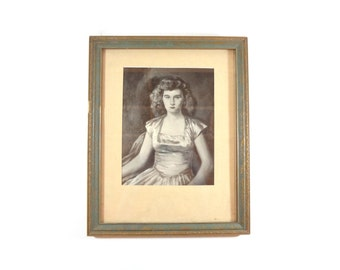 Vintage Mid Century Portrait Of Woman / Wall Decor