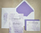 Wedding Invitation - Watercolor - Modern - Elegant