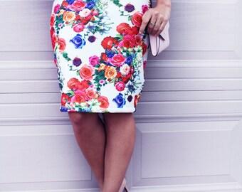 Pencil Skirt, Skirt, Floral Skirt, Floral Pencil Skirt, Party Skirt, Fancy Skirt, Party Outfit, Fall, Cute Skirt. Fancy Skirt