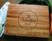 Custom Name Cutting Board, Personalized Womens, Personalized Couple's Gift, Gift For Her, Mom, Newlywed, Housewarming, Wedding, Anniversary