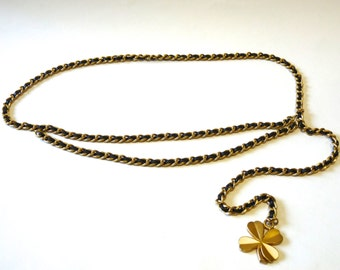CHANEL belt . Chain belt . Lariat Chanel belt . Vintage 1980s CHANEL . Chanel necklace . Free shipping