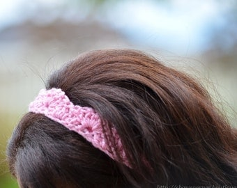 Shell Stitched Crochet Headband