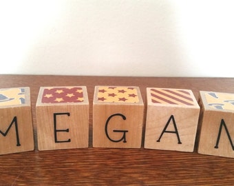Harry Potter Name Blocks - Wooden baby blocks with themed prints and excerpts from the actual books!