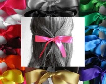 "HAIR RIBBON-7/8"" Satin Hair Ribbons (25"" Long)-Hair Ties, Hair Bows, Hair Accessories, Women's Hair Ribbons, Girl's Hair Ribbons, Boho Chic"