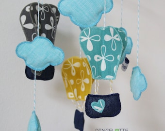 Mobile balloon, big - baby child mobile kid's room decoration - baby crib mobile