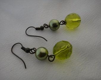 Vintage Beautiful Dangle Drop Ball Hook Style Earrings for Pierced Ears