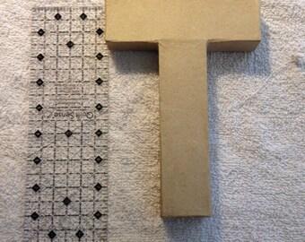 Paper Mache Hollow Letter - T