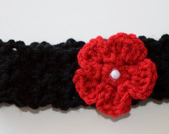 Red Poppy headband