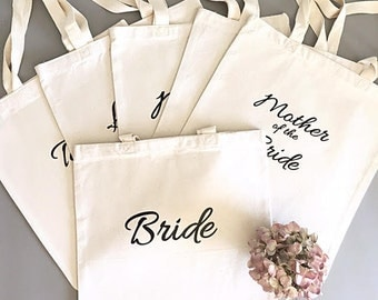 Custom tote bags-Tote bag- Bridal party tote bag bundle- Bridesmaid thank you gift