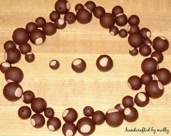 OSU Beads 25 Buckeye Beads YOUR CHOICE of size