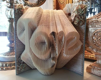 Love folded book art, Wedding gift, Engagement gift, Friend Gift, Daughter gift, Mother gift, Anniversary Gift, Bridal Shower, Baby shower