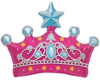 "14"" Self-Sealing Princess Crown Balloon"