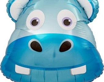 "14"" Self-Sealing Happy Hippo Balloon"