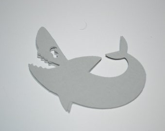 Shark/Great White Shark/Shark Tag/Shark/Shark Confetti