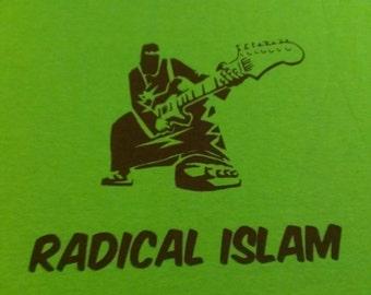 Long Sleeve Radical Islam Burka Guitar Screen Print T-shirt in Mens or Womens Sizes S-3XL