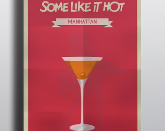 Movies Drink's Some Like it Hot. Limited Posters: One Movie - One Drink / Printing, 250G paper