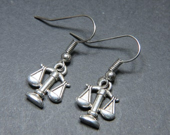 Justice Scales Earrings Justice Scales Charms Justice Scales Jewelry Justice Scales Jewelry Lawyer Jewellery Lawyer Gift