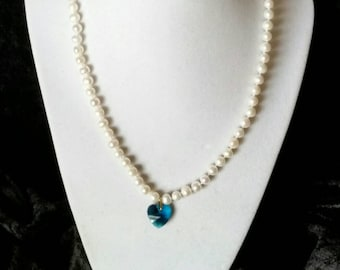 Pearls and Heart Pendant