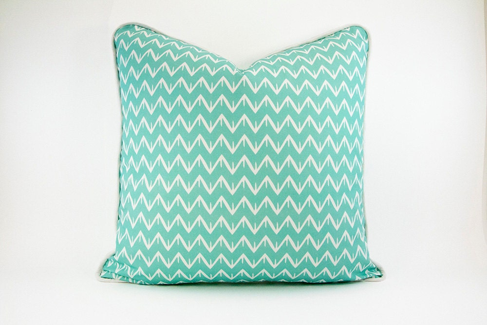 Geometric Pillow Cover with Piping Decorative Nursery Pillow