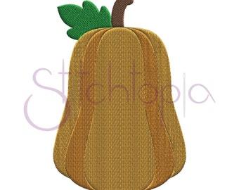 Pumpkin Embroidery Design #3 - 7 Sizes 10 Formats PES DST SHV - Halloween Pumpkin Machine Embroidery Design Pattern - Instant Download Files