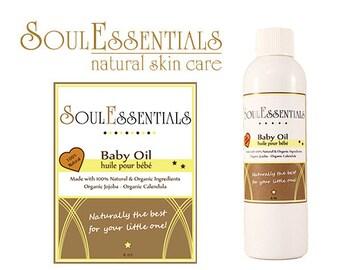 Natural Organic Baby Lotion -  Organic Baby Oil - All Natural Baby Oil - Natural Baby Massage Oil with Organic Calendula & Jojoba