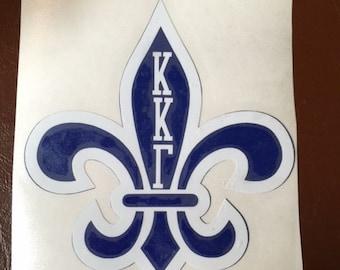 Kappa Kappa Gamma Fleur De Lis Decal