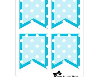 BF006- Polka Dot Flags- Blue