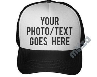 Customized Trucker Hat Printed Mesh Cap Personalized With Your Photo Or Text Curved Bill Snapback Great Gift For Xmas