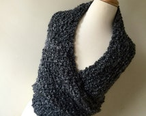 Beautiful, Rustic,  Grey Wrap. Blanket scarf, Outlander-inspired BOTH SIDES NOW shawl, wrap, Outlander shawl, Claire's grey wrap, heavy shaw
