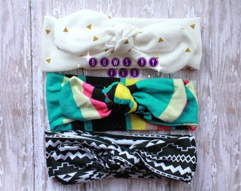 Top Knotted/ Top Knot/ Baby Headbands