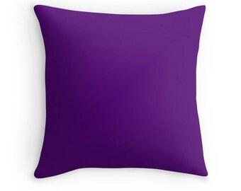 Purple Pillow, Purple Throw Pillow, Purple Decorative Pillow, Purple Pillow Cover, Purple Toss Pillow, Purple Bedding, Purple Room, Purple