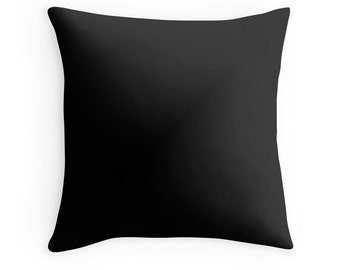 Plain Black Throw Pillow : Solid black pillow Etsy