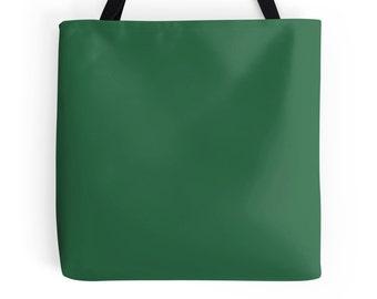 Green Tote Bag, Dark Green Bag, Green Purse, Dark Green Bag, Green Bookbag