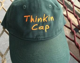 Thinkin Cap - Forest Green w/Orange Lettering