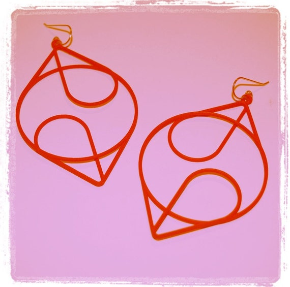 Continuous - Large Version - Modern, Striking, 3D Printed Hoop Earrings - Free Shipping with code FREESHIP