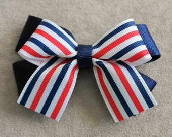 Fourth of July Hairbow Clip