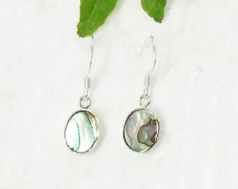 Amazing ABALONE SHELL Gemstone Earrings, Birthstone Earrings, 925 Sterling Silver Earrings, Fashion Handmade Earrings, Dangle Earrings