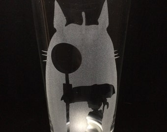 My Neighbor Totoro- Studio Ghibli- Pint Glass- Etched