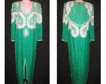 Long green gown # 107